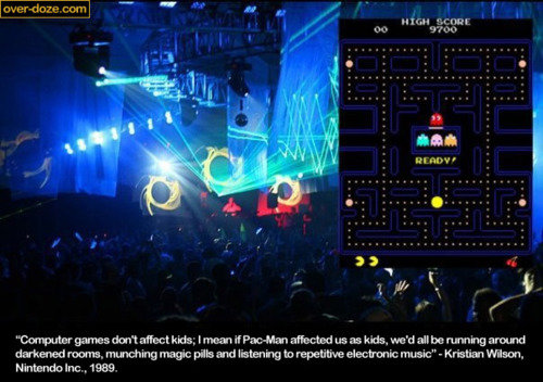 pac man raves