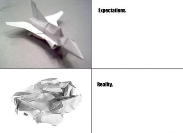 paper - expectations vs reality