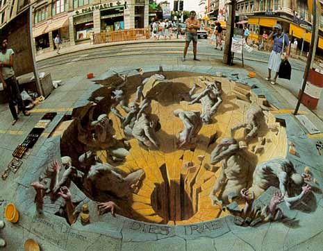 pavement art