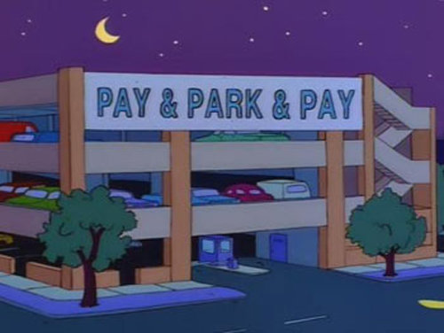 payandparkandpay - funny signs from the simpsons
