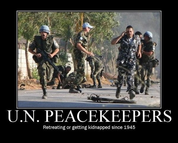 peacekeepers retreating getting kidnapped