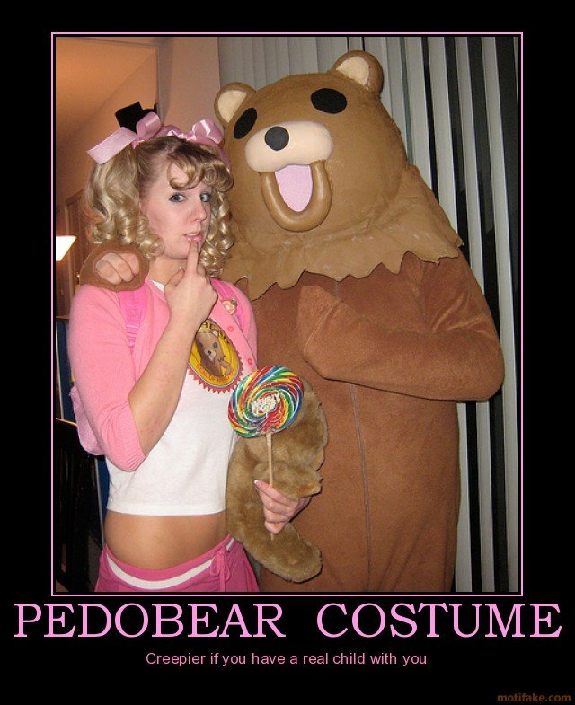 pedobear costume cubby demotivational poster