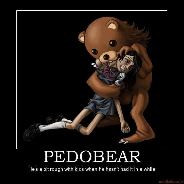 pedobear cubby demotivational poster