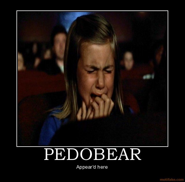 pedobear pedobear fight club demotivational poster