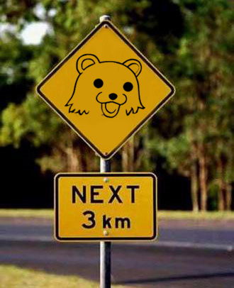 pedobear road sign