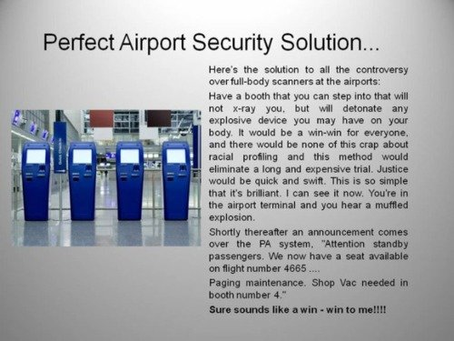 perfect airport security solution