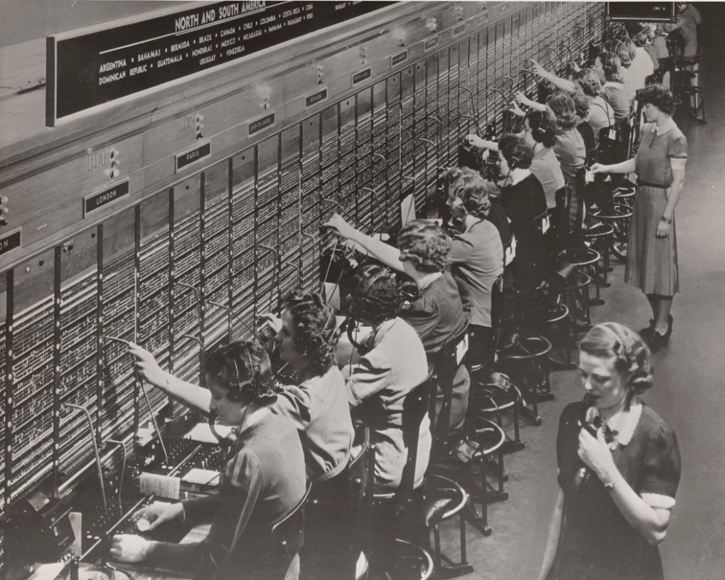 photograph women working bell system telephone switchboard