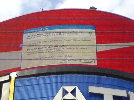 piccadilly circus error