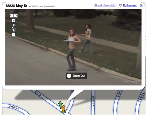 picture 42 - strange moments caught on google maps