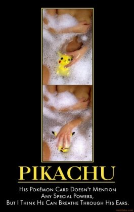 pikachu pokemon day demotivational poster