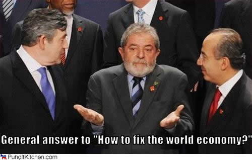 political pictures lula silva gordon brown fix economy