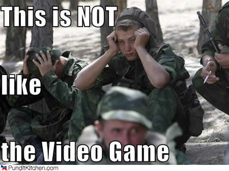 political pictures soldier not like video game
