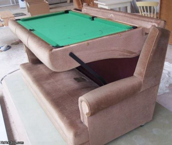 pool table couch
