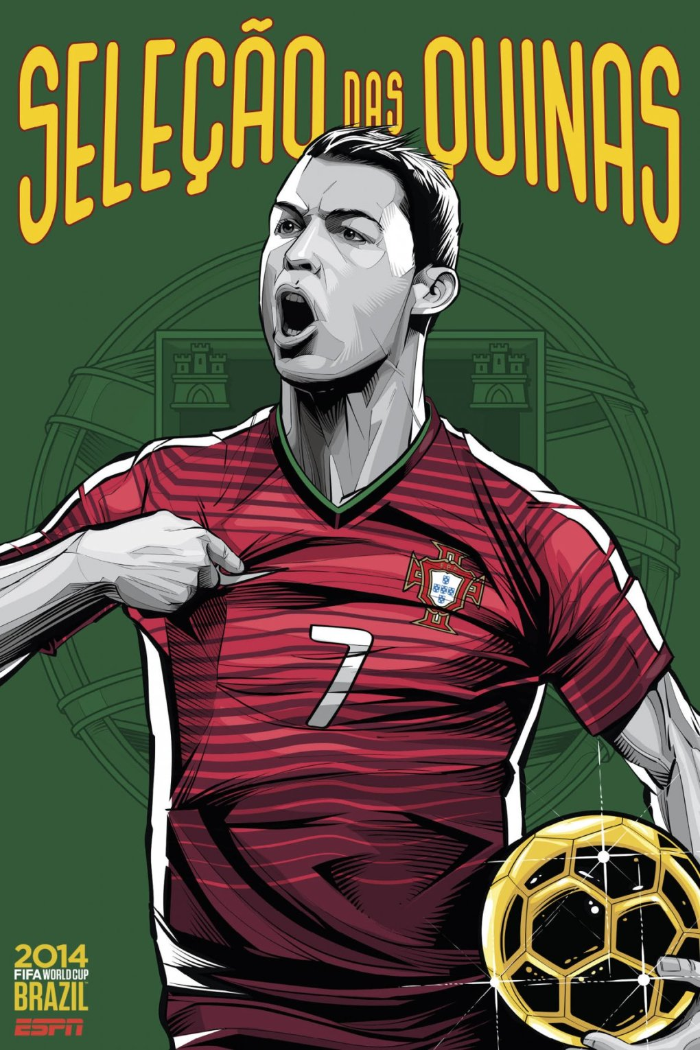 portugal - world cup 2014 team posters