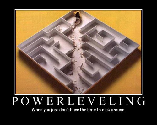 powerleveling - funniest motivational posters