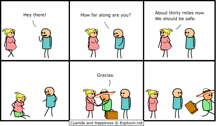 pregnant - cyanide & happiness!!