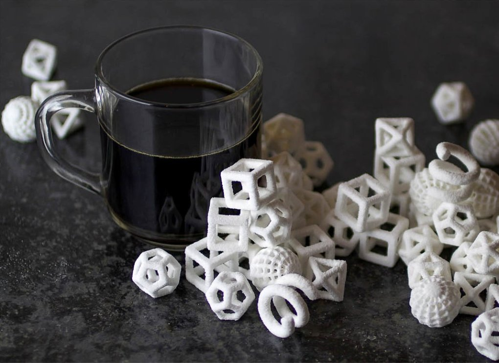 printed sugar cubes