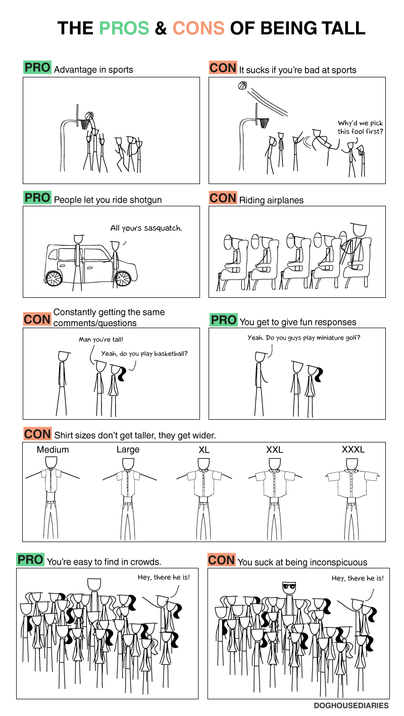 pros cons being tall