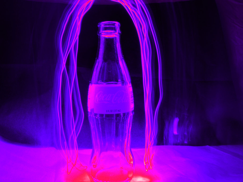 purple bottle lightning arc