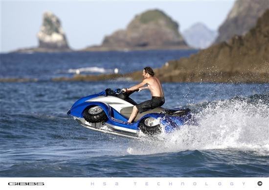 quadski four wheel amphibious vehicle