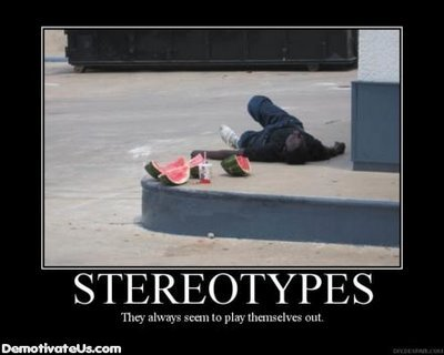 racial stereotypes demotivational poster