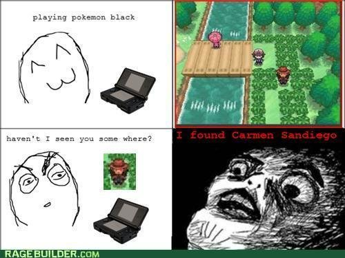 rage comics shes pokemon black thats where she