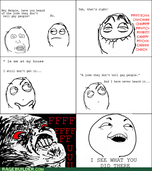 rage comics gay joke