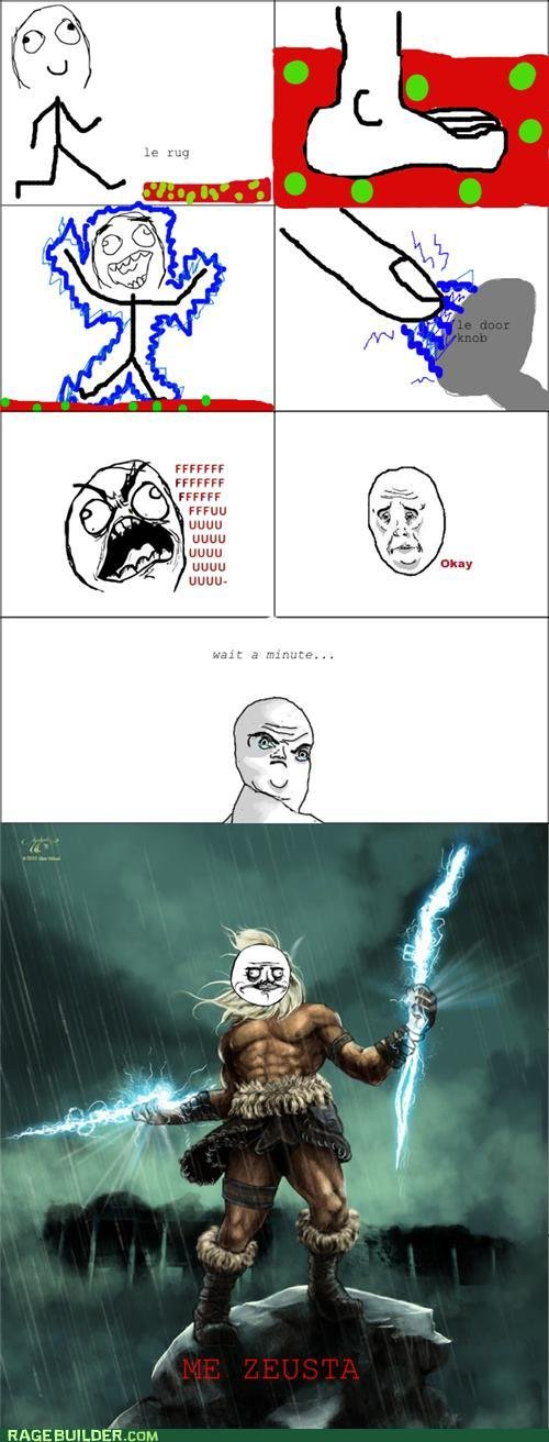 rage comics when life gives static electricity