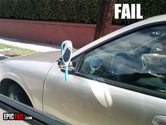 rear view mirror fail