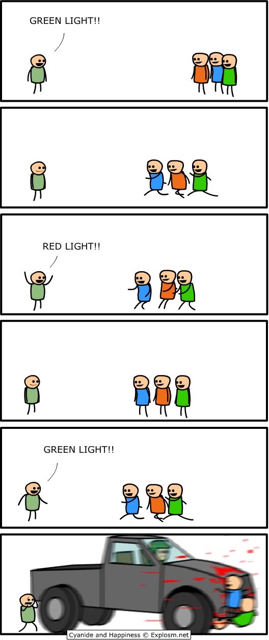 redlightgreenlight - cyanide and happiness 1