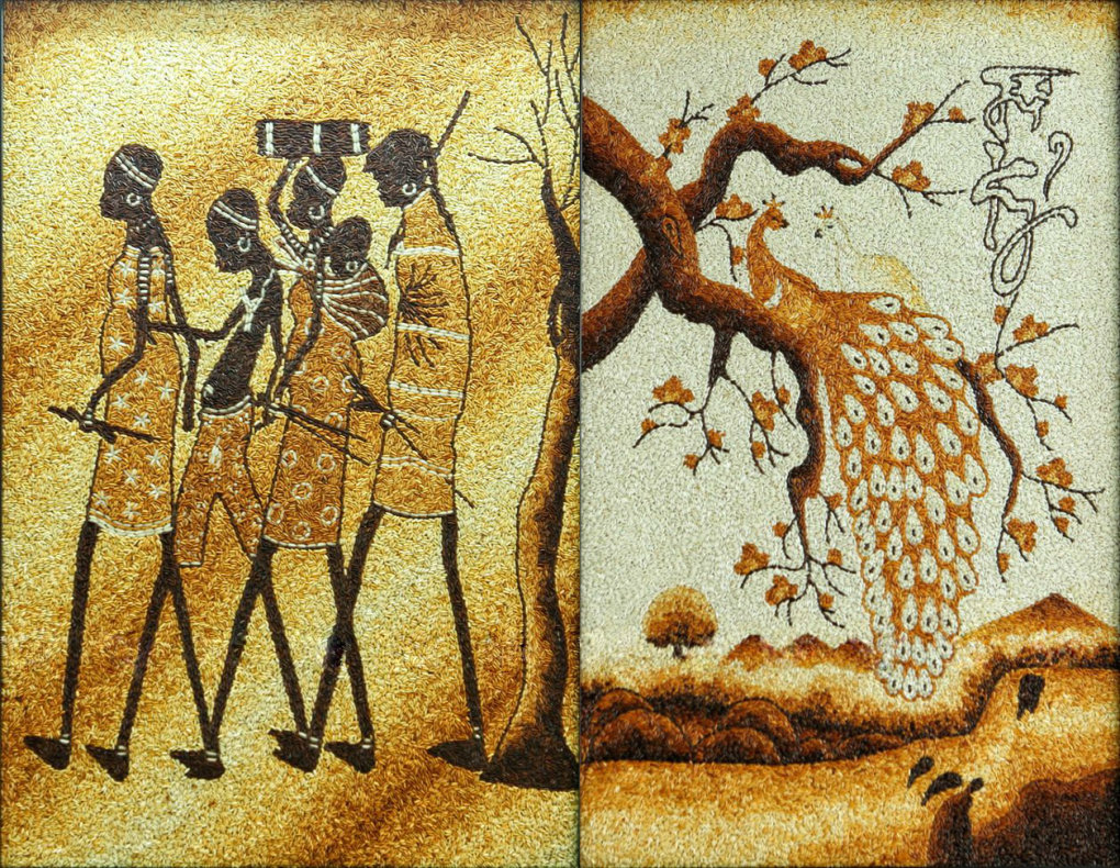 rice grain painting