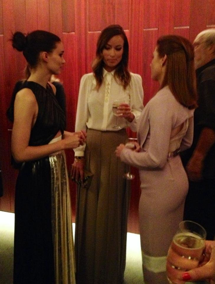 rooney mara olivia wilde amy adams cocktail party all