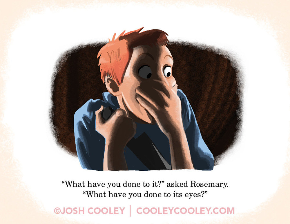 rrated movie scenes drawn style cute kids book