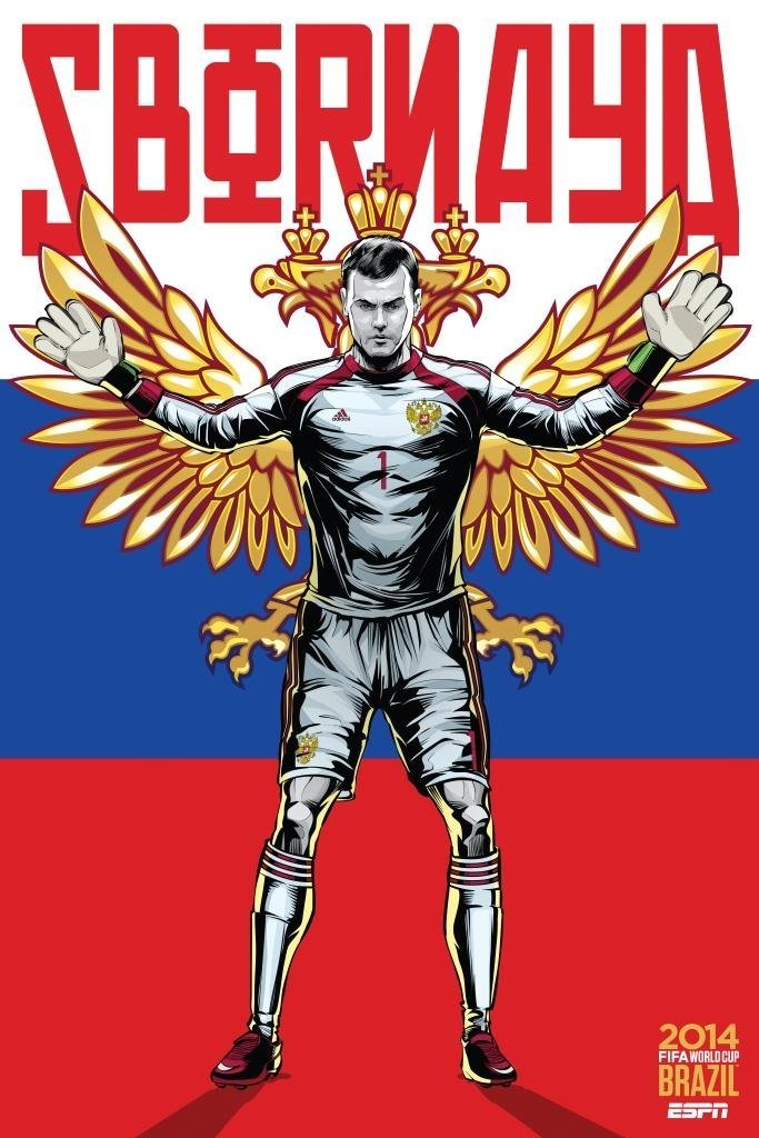 russia - world cup 2014 team posters