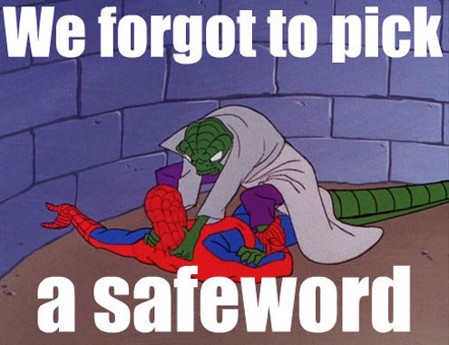 safeword - spider-man meme
