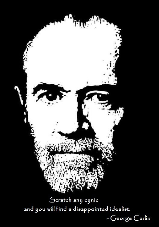 scratch any cynic will find george carlin