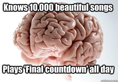 scumbag brain loves music