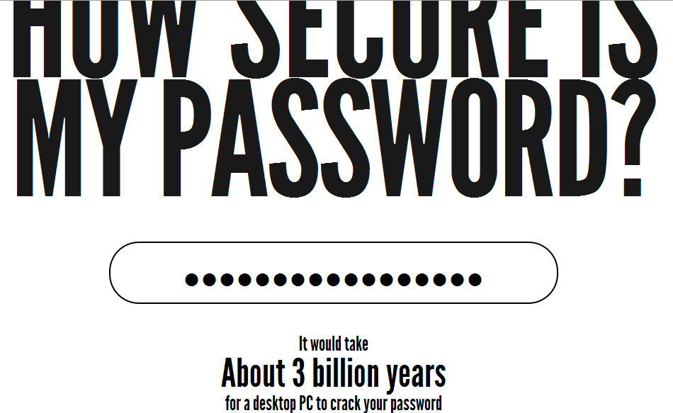 secure - how secure is your password?