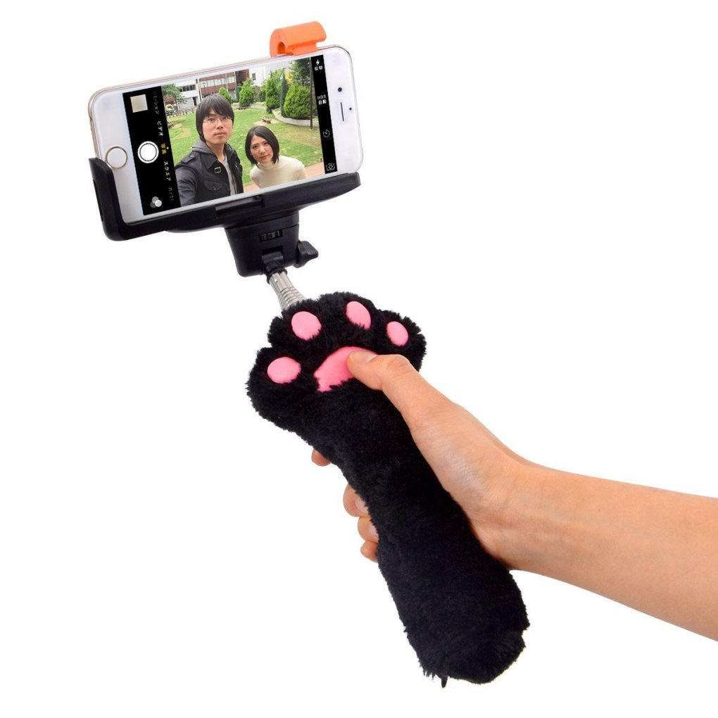 selfie stick cat paws