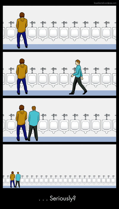 seriously310 - he broke the number one rule of the urinal