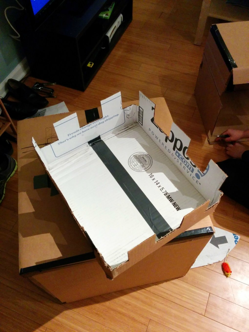 shzxpsg - why don't we build cardboard castle to our cats? this is how to do it.
