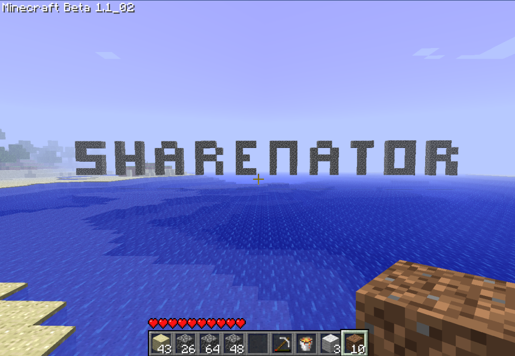 sharenator minecraft