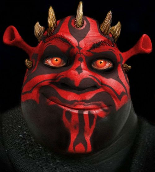 shrek sith star wars