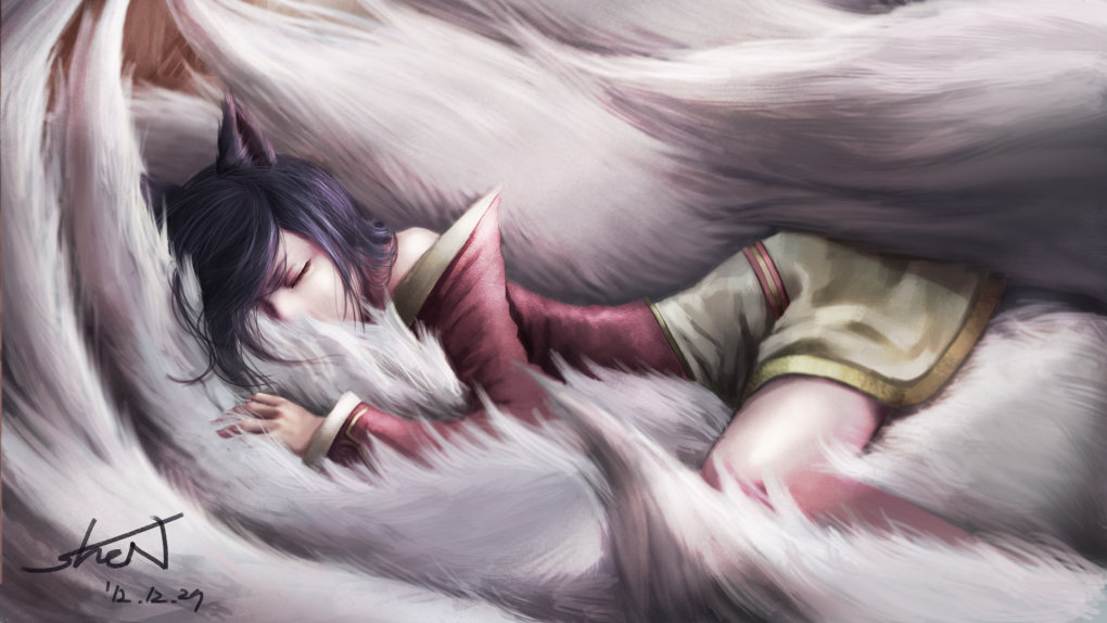 sleeping heavenly fluffyness ahri
