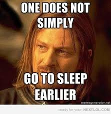 slepp - one does not simply....