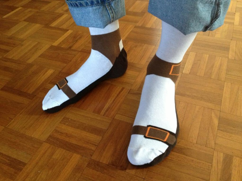 socks sandals why not cut out middle man