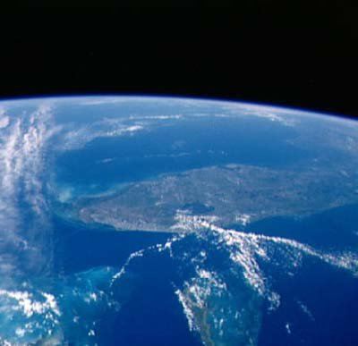 space station earth view