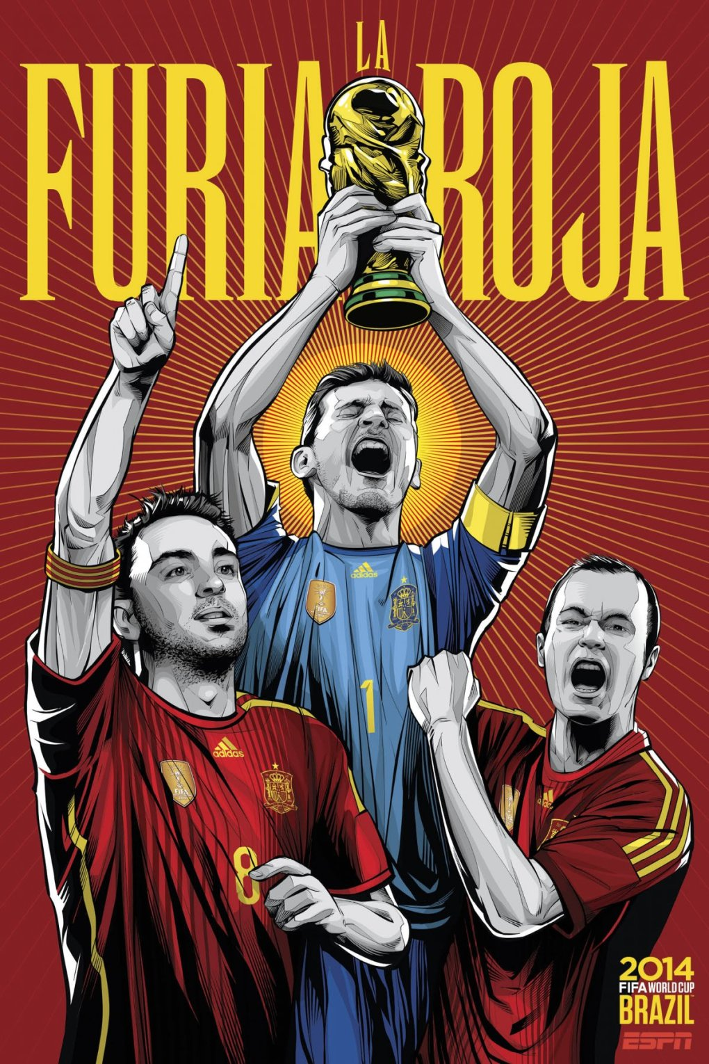 spain - world cup 2014 team posters