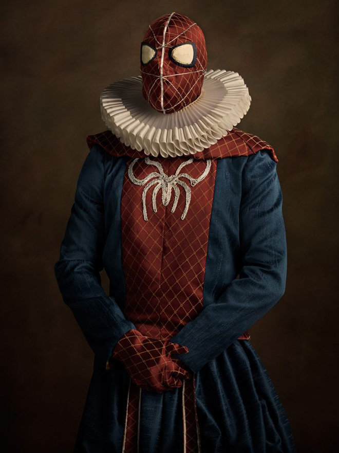 spiderman - modern superheroes go back to the 16th century