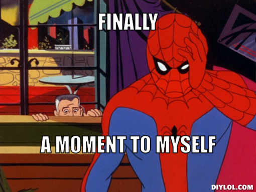 spiderman meme generator finally moment myself